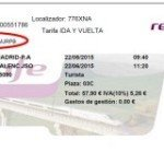 How to get to Gandia or any village in Valencia province by train