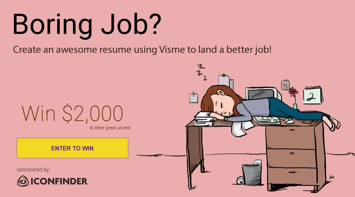 make money from home in Visme's contest